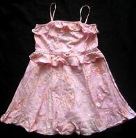 GAP Mädchen Trägerkleid mit Höschen Gr. 4 Jahre Rosa gemustert