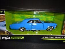 Maisto Chevrolet Chevelle SS396 1966 Blue Design 1/24