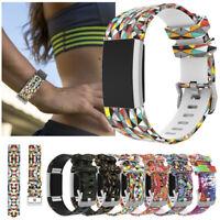 De Rechange pour Fitbit Charge 2 Smart Watch Bandeau Bracelet Montre Silicone