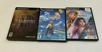 Final Fantasy X X-2 Collector's Edition Steelbook Sony PlayStation 2 PS2 LOT