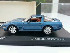 1:43 Diecast Chevrolet Corvette ZR Coupe Detail Art No 213. On Plinth Case Boxed