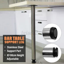 1PC 87-90cm Stainless Steel Bar Table Leg Adjustable Home Furniture Support