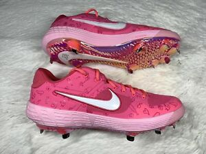 Nike Alpha Huarache Elite 2 Mothers Day Baseball Cleats Low Pink Colorful sz 13