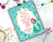 Personalised Disney Little Mermaid Princess Birthday Party Invitation A6 Ariel