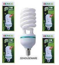 5 X 11W 6400K CFL LIGHTBULB DAYLIGHT BULB E14 SPIRAL ENERGY SAVER BULB 11 WATTS