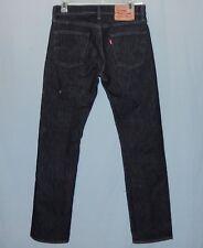 Mens Levis 513 Slim Straight Fit Black Jeans Size 29 x 31 Stretch