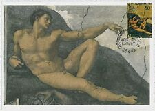 MAXIMUM CARD : Art - Paintings: INDIA 1975  MICHELANGELO #3