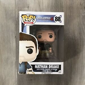 Uncharted 4 A Thief's End Nathan Drake 88 Funko Pop Vinyl Figure Boxed