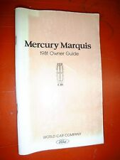 1981 Mercury Marquis Original Factory Operators Owners Manual Guide