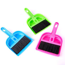 HK- Mini Plastic Hand Kitchen Dustpan Brush Soft Cleaning Sweeper Dust Pan Set E