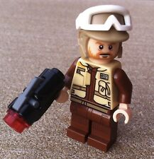 2017 LEGO STAR WARS 1 REBEL TROOPER (75164) tan / brown helmet blaster