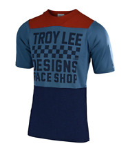 Troy Lee Designs Mountain Bike Skyline S/S Air Jersey Checker Clay/Cadet Size LG