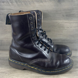 Doc Martens 1490 10 Eye Brown Boots UK 8 Made in England Vintage Women's US 10