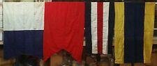 Vintage Cotton Maritime Ship's Signal Flag Set Alphabet LOT OF 26