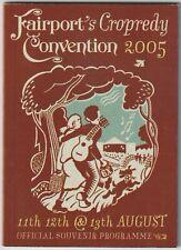 FAIRPORT CONVENTION CROPREDY FESTIVAL 2005 program Country Joe Jimmy Carl Black