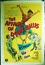 The Affairs of Dobie Gillis '53 linen poster great image of Debbie Reynolds