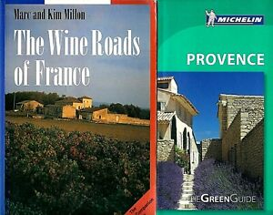2 French Travel Books! The Wine Roads of France & Michelin Green Guide Provence