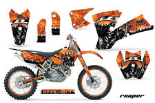 AMR Racing KTM SX/SXS/EXC/MXC Number Plate Graphic Kit MX Bike Decals 03-04 RP O