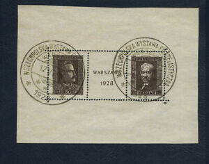 Poland - 1928 Bloc 1 Warsaw Philatelic Exhibition miniature sheet