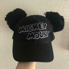 Tokyo Disney Resort limited Mickey Mouse pom-pom cap hat black One Size used