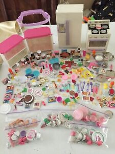 Lot of Tyco Kitchen Littles Barbie