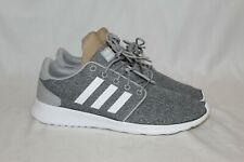 NEW Womens Adidas Cloudfoam QT Racer Grey Athletic Running Shoes Size 9 FX3427