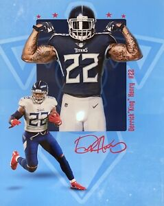 Derrick Henry Poster! [Man Cave, Game Room, Etc.] 🔥Tennessee Titans! 8x10 RARE!