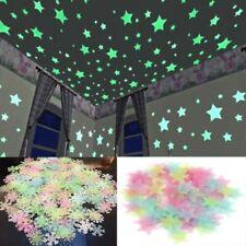 50 Pcs Wall Stickers Stars Luminous Glow In The Dark Kids Nursery Room Decor