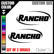 2x RANCHO SHOCKS VINYL DECAL - 4x4 Jeep Ford GMC Truck Car Bumper Sticker Label