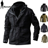 Mens Tactical Military Jacket Combat M65 Field Coats Outdoor Waterproof Casual