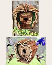 Deluxe Hand Made Garden Hanging Bird House Hotel Garden Nesting Box