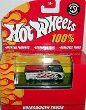 HOT WHEELS 100% VOLKSWAGEN TRUCK W/ FLAMES & SURFBOARDS M1677 2007 *NEW*