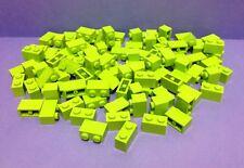 Lego 100 Lime Green Bricks 1x2 Job Lot Bundle City Friends Creator