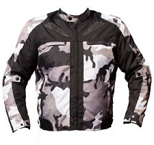 BLACK ASH MENS CAMO MOTORCYCLE CORDURA TEXTILE ARMOR JACKET GREY X LARGE