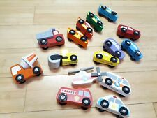 Melissa And Doug Wooden Vehicles assorted Lot Construction EMS Race Cars 4 sets
