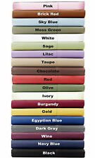 Split Sheet Set All Solid Colors / Sizes 1000 Thread Count Pure Egyptian Cotton