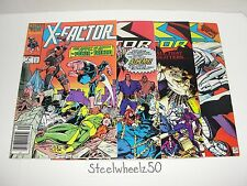 X-Factor 4 Comic Lot Marvel 1986 #4 41 42 45 Archangel Louise Simonson Art Adams