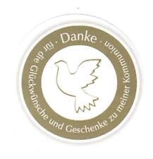 Taube Sticker Danke Sticker 48 Stk. Aufkleber Kommunion Taufe  Konfirmation 6 cm