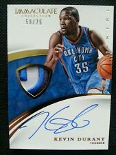 KEVIN DURANT 2014-15 PANINI IMMACULATE COLLECTION PATCH AUTO #59/75! AUTOGRAPH!