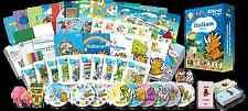 Italian for Kids Premium set, Italian learning DVDs, Books, Posters, Flashcard
