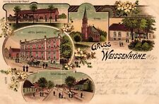Weissenhöhe / Białośliwie, Farb-Litho mit Hotel Bartels, 1901
