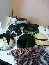 Hats Womens Ladies Vintage Antique Lot of 8