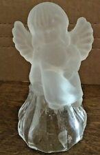 Vintage Glass Angel/ Cherub Crystal Christmas Bell