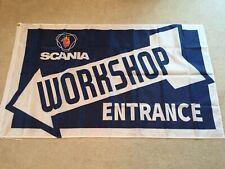 Scania Trucks Workshop entrance flag banner