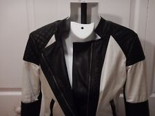 Aeropostale Eighty-Seven Jacket Young Miss M/M Waist Lenth Zip Front Black/White