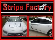 DODGE CHARGER HOOD & SIDE SCALLOP KIT STRIPE FACTORY DECALS
