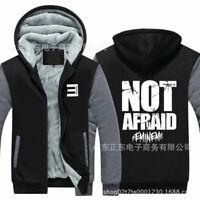 Eminem Anti E Hoodie Sweatshirt Zipper Print Hooded Warm Coat Casual Jacket Top