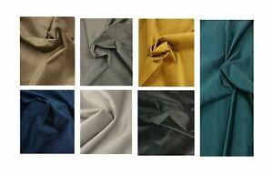 "PLAIN PLUSH VELVET Premium Quality Upholstery & Curtain Fabric 57"" Width (1.45m)"