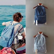 Vintage Women Men Jean Denim Backpack Rucksack School Book Casual Travel Bag US