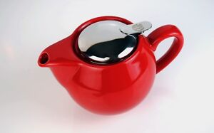 Teapot and Strainer 0.5 Litre - Pot Tea Coffee Camping Travel Kettle Spice Black